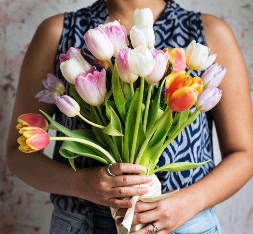 Un bel mazzo di tulipani per ringraziare Renzo Duella per la sua gentile referenza per Katrin Walter