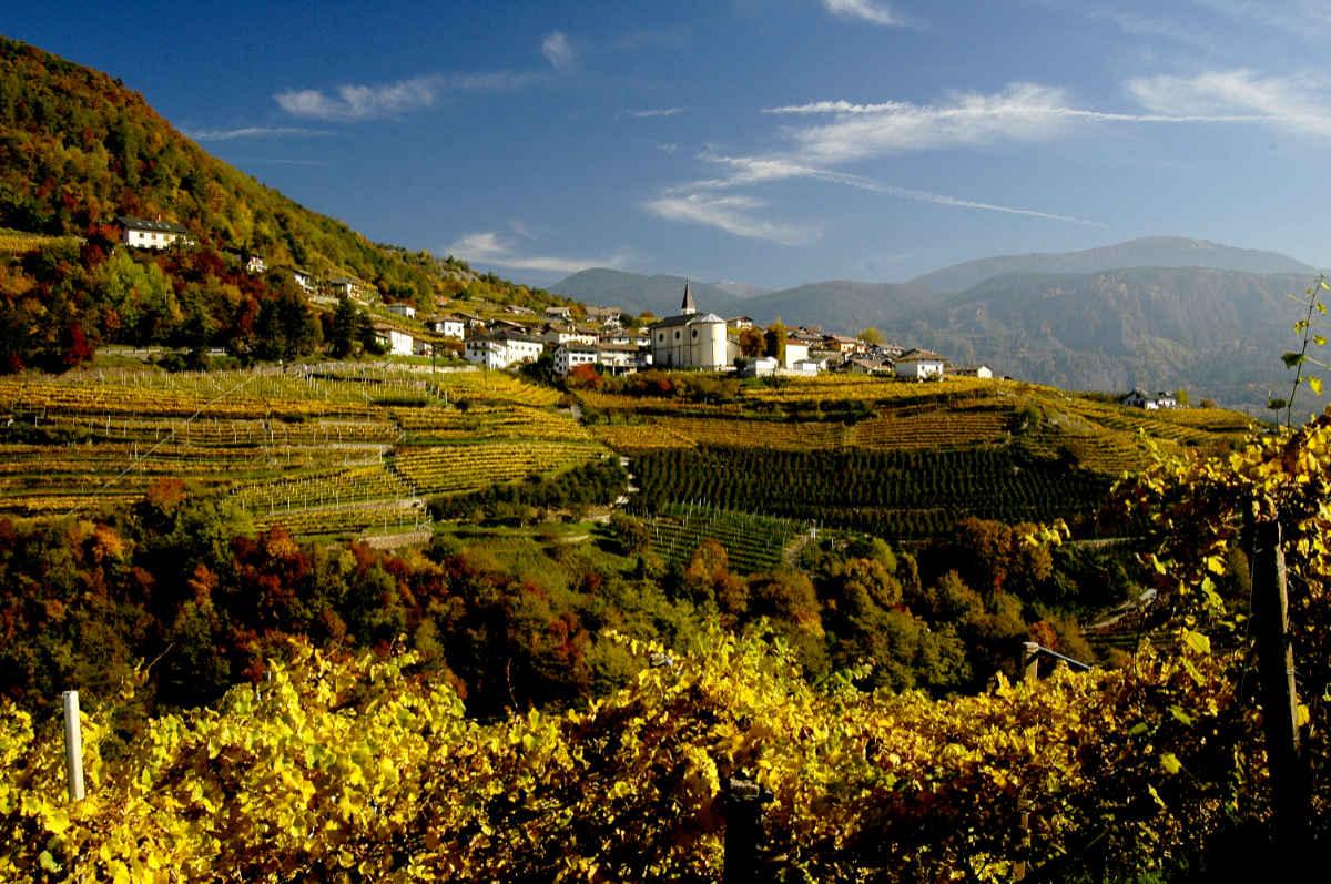 Val di Cembra in autunno con i colori del foliage. Foto: Luciano Lona