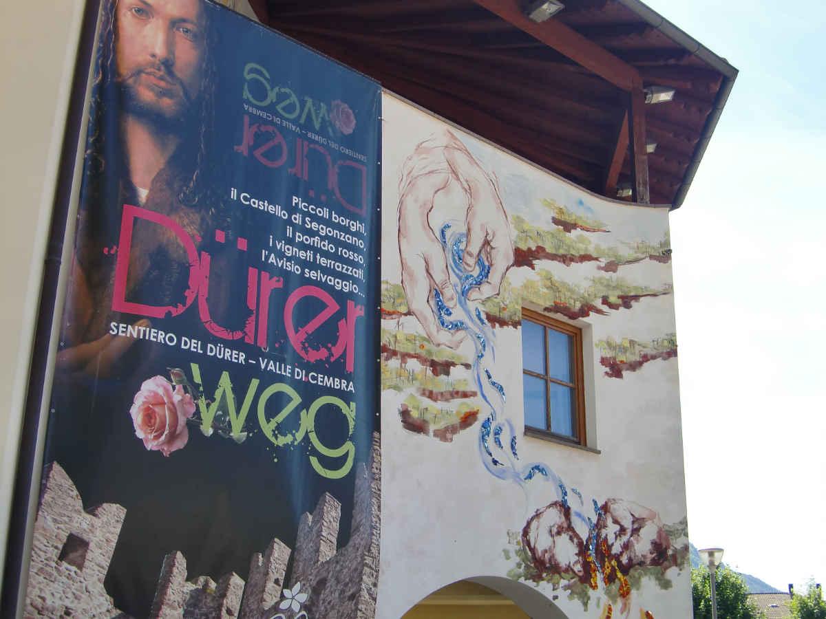 Manifesto del Dürer-Weg, Cantina di Cembra, Val di Cembra. Foto: Katrin Walter