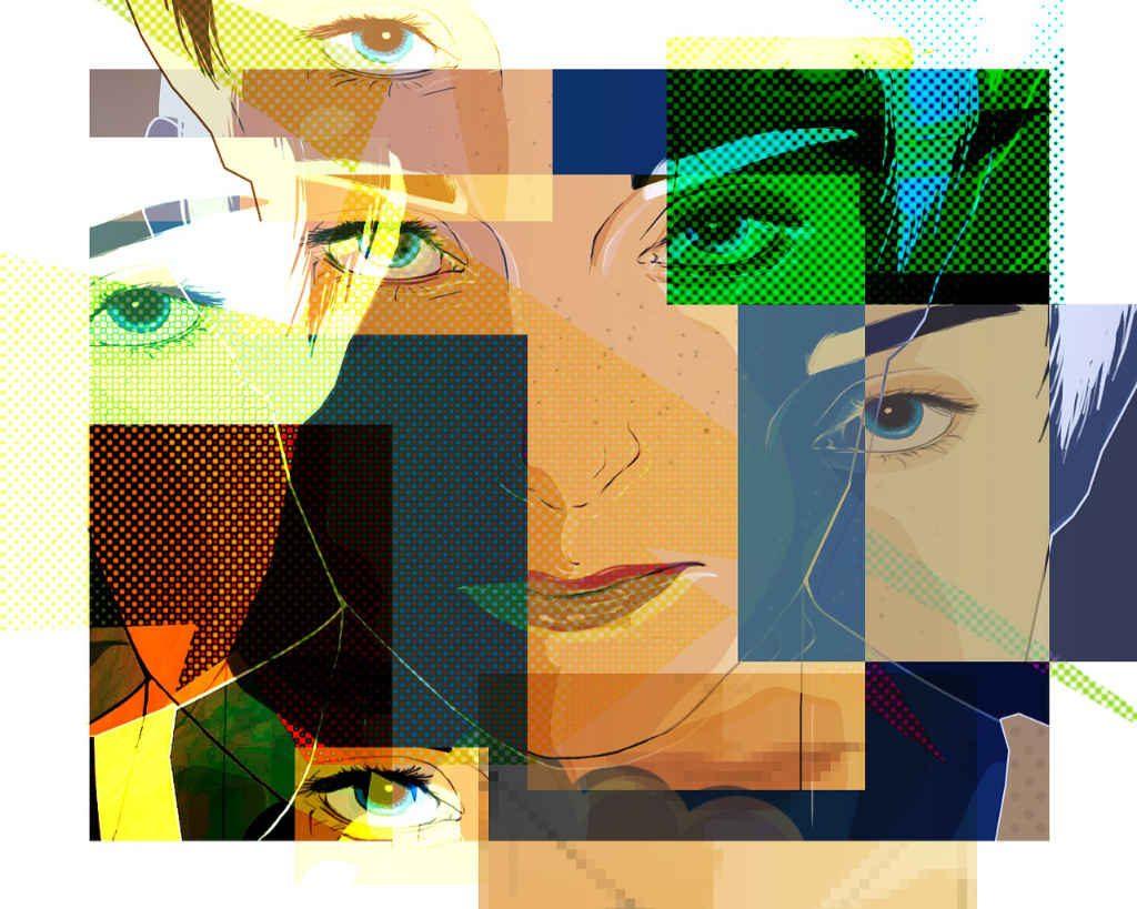 Nella gig economy (articolo di Katrin walter su simplywalter.com) serve essere flessibile che dimostra la foto con tante faccie della stessa persona (Foto: Pixabay)