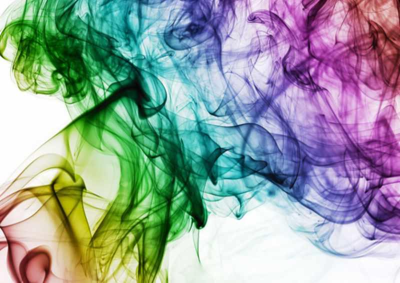 Vedi i colori sfocarsi l'uno nell'altro. Immagine per il testo sul ruolo del colore nel processo di progettazione di un sito con Katrin Walter – simply walter e bezz graphic design